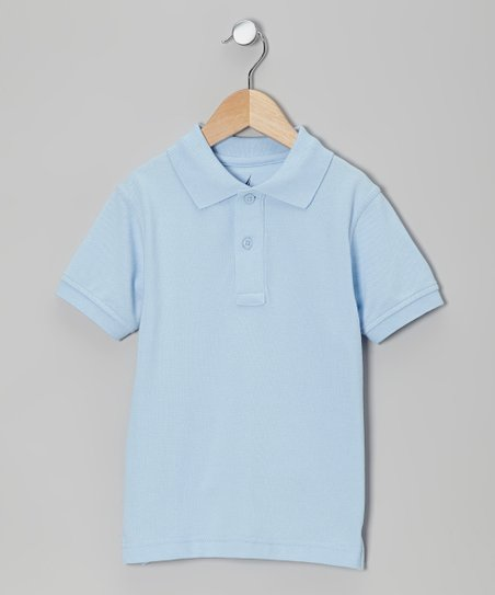 Light Blue Uniform Polo - Boys