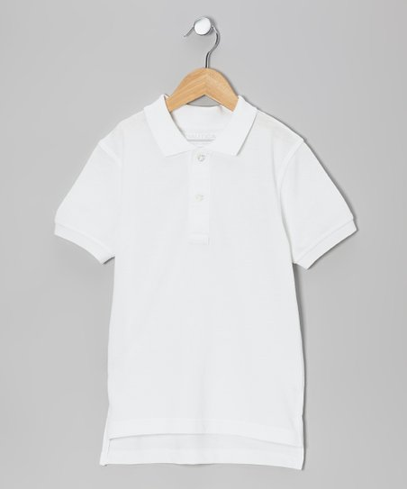 White Uniform Polo - Boys