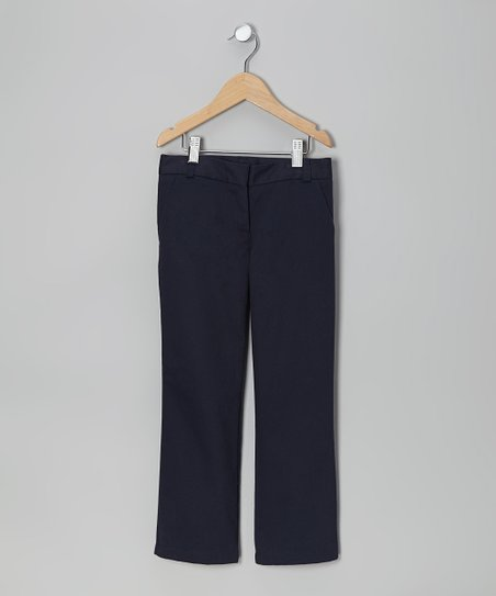 Navy Bootcut Pants - Girls