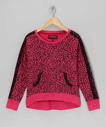 Hot Pink Leopard Top - Girls