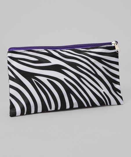 Black & White Zebra Cosmetic Bag