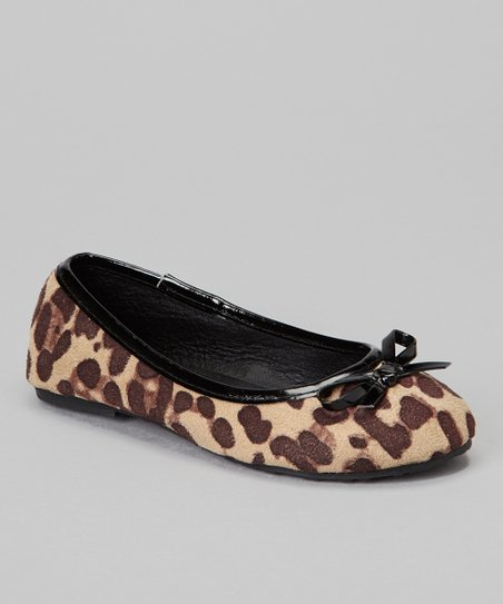 Black Cheetah Bow Ballet Flat