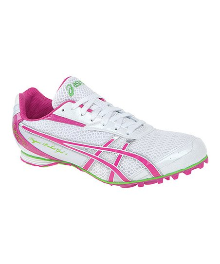 White & Fuchsia Hyper-Rocketgirl 5 Track & Field Shoe - Women