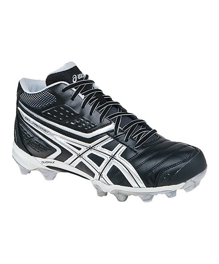 Black & Silver GEL-Provost Mid Field Hockey Shoe - Men