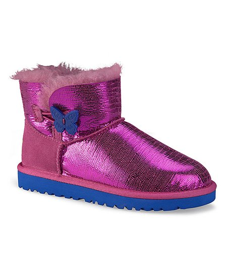 Raspberry Sorbet Mini Bailey Button Lizard Boot