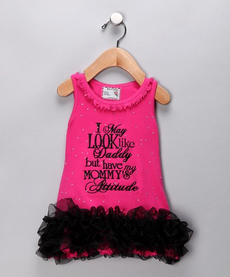 Pink 'Attitude' Ruffle Dress - Infant & Toddler