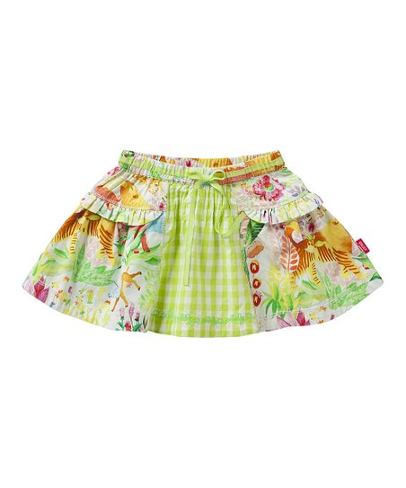 White Jungle Scooby Skirt - Infant, Toddler & Girls