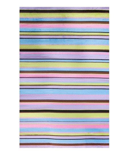 Pink & Blue Stripe Rug