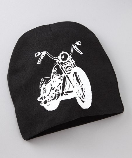 Black & White Motorcycle Beanie
