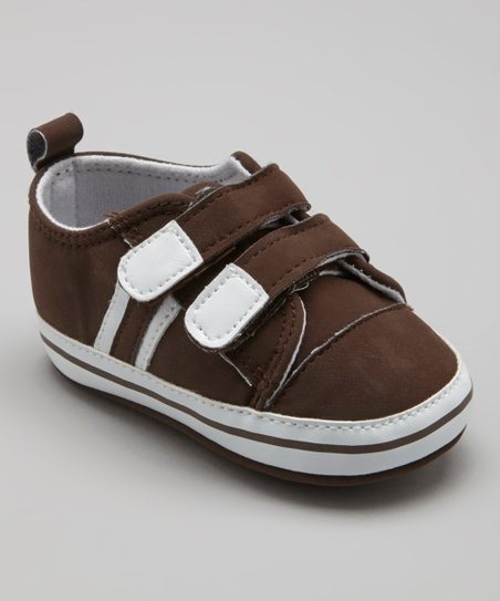 Coffee Double-Strap Sneaker