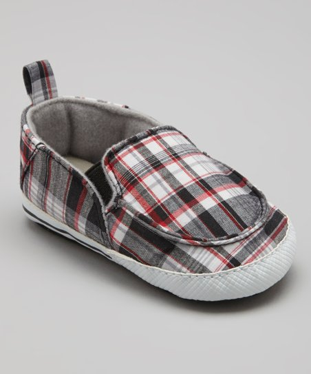 Black Plaid Slip-On Sneaker