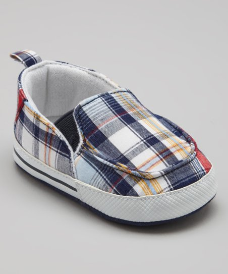 Blue Plaid Slip-On Sneaker