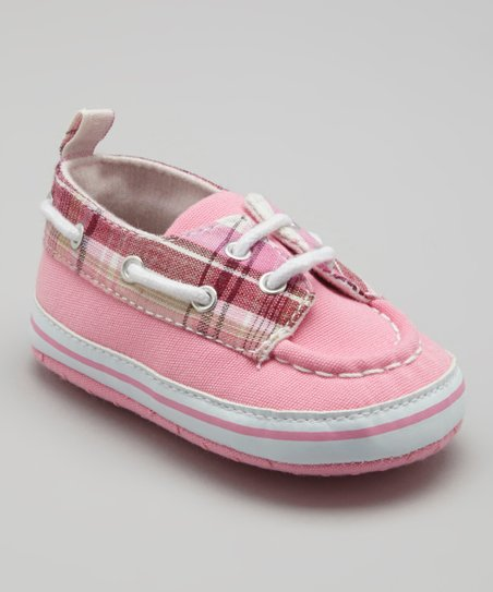 Pink Plaid Boat Shoe