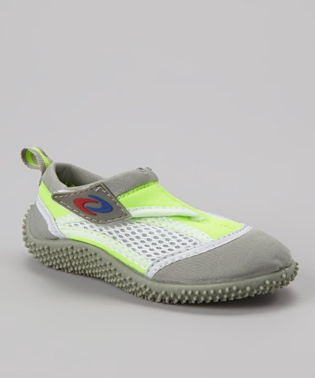 Lime & Gray Adjustable Water Shoe