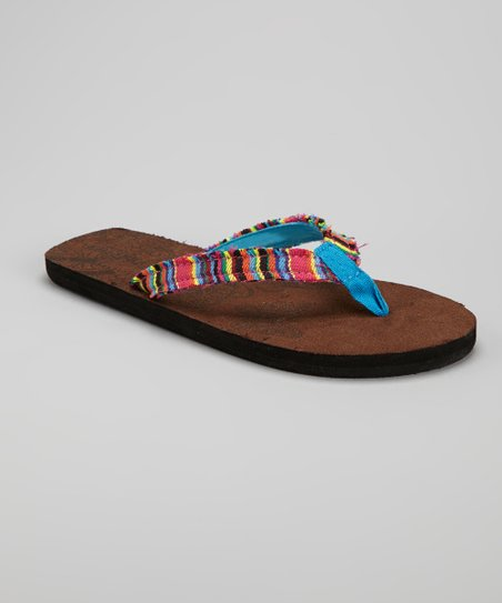 Blue Stripe Flip-Flop