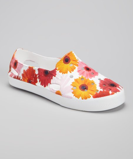 Orange Floral Slip-On Shoe