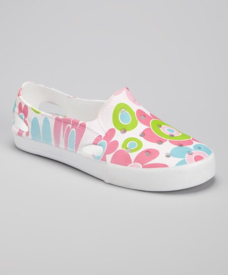 Pink Floral Slip-On Shoe
