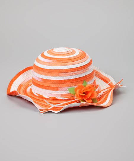 Orange & White Stripe Sunhat