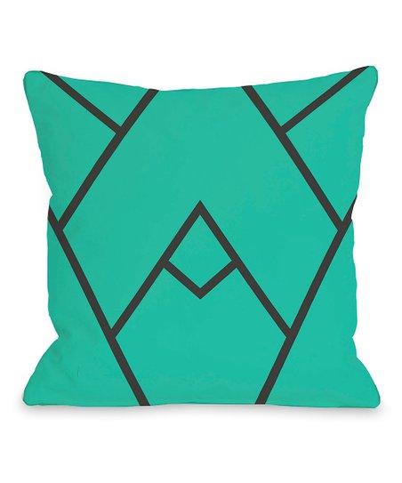 Turquoise Mountain Peak Throw Pillow