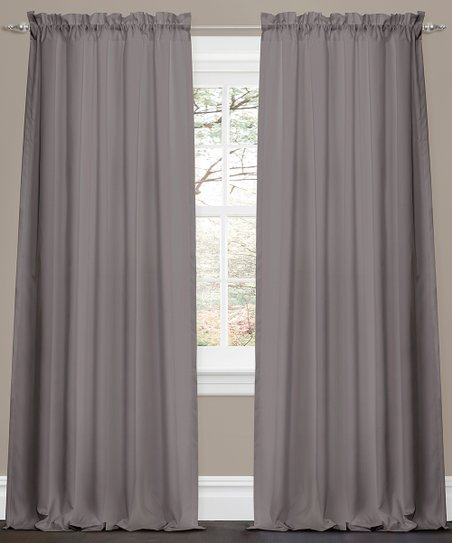 Gray Lucia Curtain Panel – Set of Two
