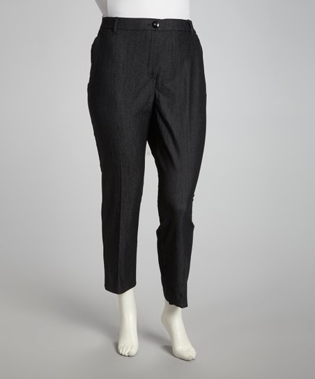 Black Denim Pants - Plus