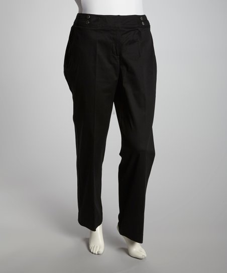 Black Twill Pants - Plus