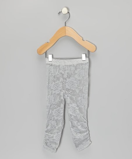 Gray Lace Leggings - Infant, Toddler & Girls