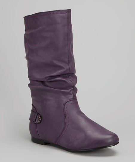 Purple Tall Boot