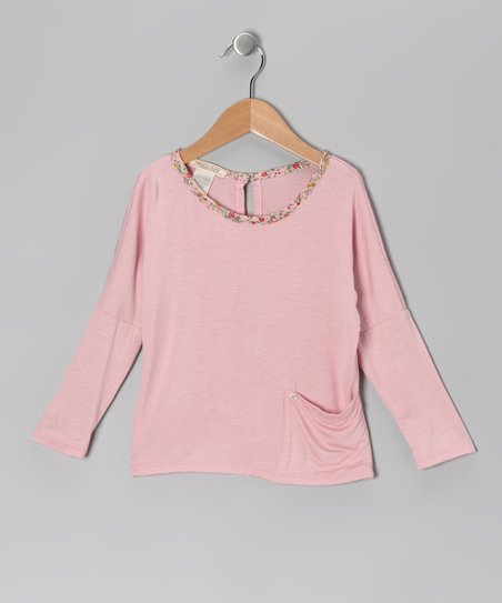 Dusty Rose Pocket Dolman Top - Toddler