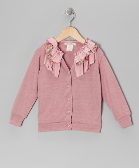 Dusty Rose Frill Icing Cardigan - Toddler & Girls