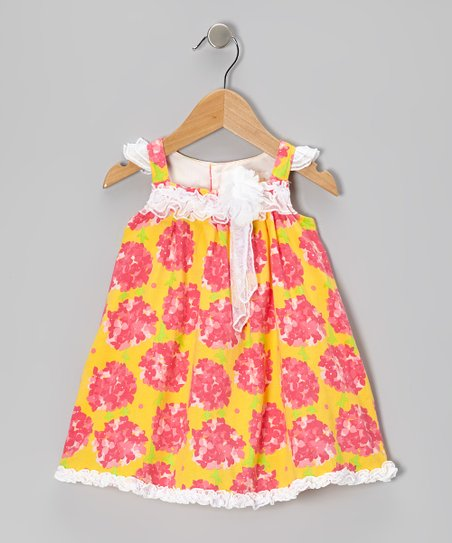 Yellow Floral Babydoll Dress - Infant & Toddler
