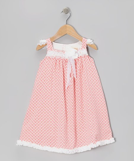 Coral Zigzag Babydoll Dress - Infant & Toddler