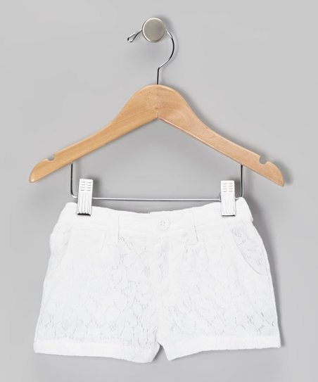 White Lace Shorts - Toddler & Girls