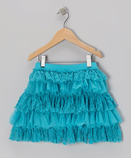 Capri Blue Ruffle Skirt - Toddler & Girls