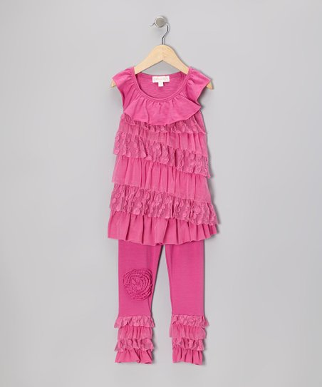 Pink Ruffle Tunic & Leggings - Infant, Toddler & Girls