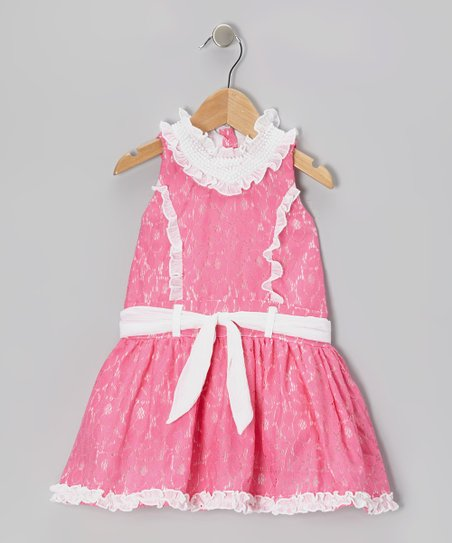 Pink Lace Princess Dress - Toddler & Girls