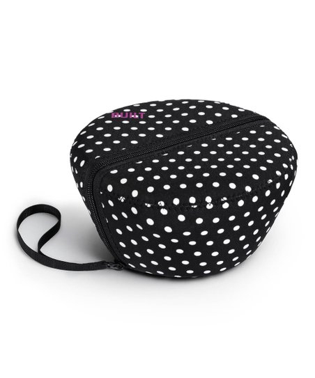 Black & White Mini Dot Salad Bowl & Sleeve