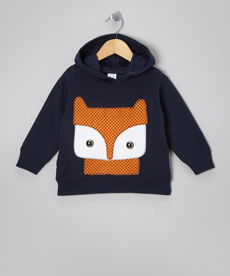 Navy Fox Hoodie - Toddler & Boys