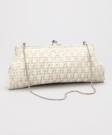 Ivory Crocheted Frame Shoulder Bag