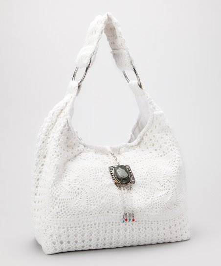 Ivory Crocheted Hobo