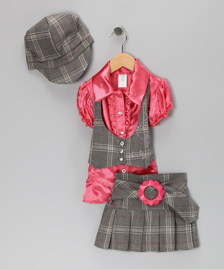 Coral Vest Set - Toddler & Girls