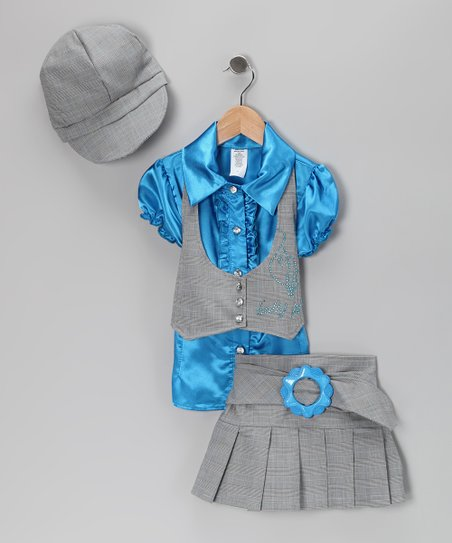 Turquoise Vest Set - Toddler & Girls