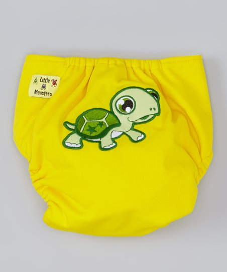 Yellow Turtle Pocket Diaper