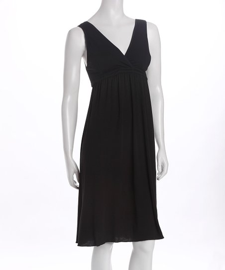 Amamante Black Signature Nursing Nightgown