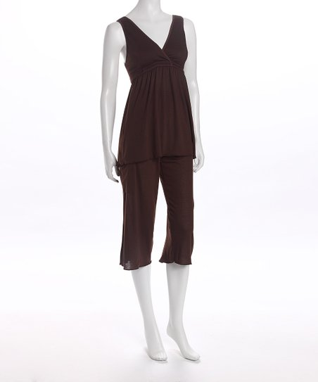 Amamante Chocolate Serenity Nursing Pajamas