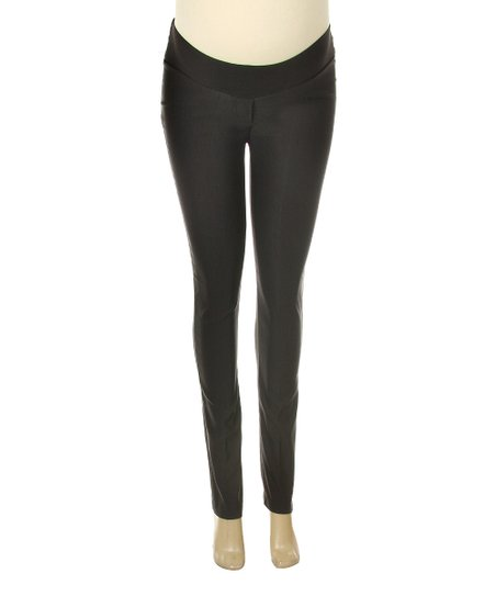 Black Under-Belly Maternity Skinny Pants - Women