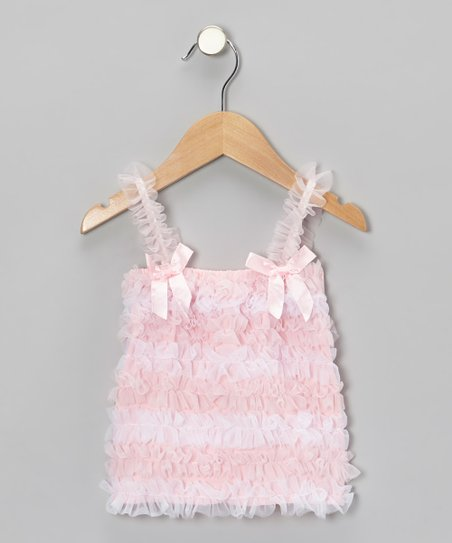 Pink & White Stripe Ruffle Top - Toddler & Girls