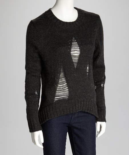 Black Shredded Sweater