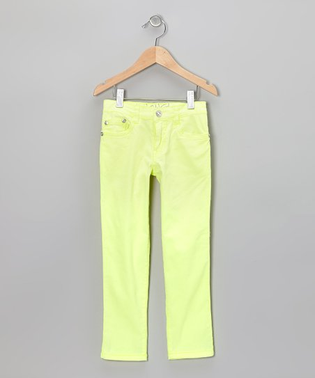 Yellow Straight-Leg Jeans - Girls