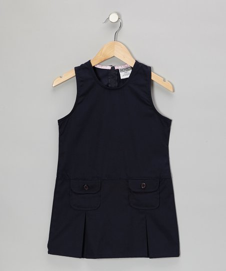 Navy Pocket Shift Dress - Girls